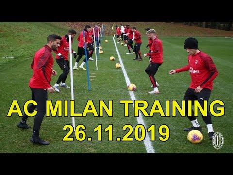 AC Milan Training at Milanello 26.11.2019