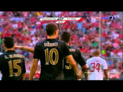 Edin Dzeko first goal against AC Milan (Manchester City – AC Milan 5-3) 31.07.2013