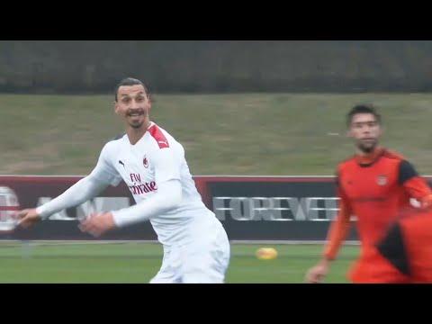 ZLATAN SCORES ON AC MILAN DEBUT | AC Milan 9-0 Rhodense (friendly)
