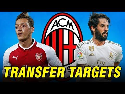 Top 5 AC Milan Transfer Targets in January 2020