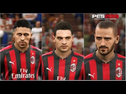 PES 2019 AC Milan Faces | PS4