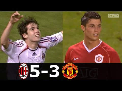AC Milan vs Manchester United 5-3 (agg) – 2006/2007 (English Commentary)