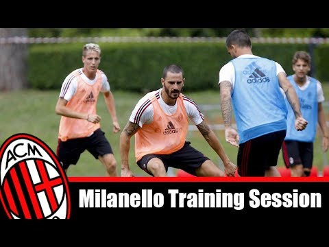 milanello training session 2017 – NEW !!! for europe league