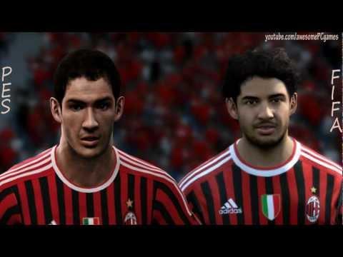 FIFA 12 vs PES 12 Head to Head – Faces HD 1080p