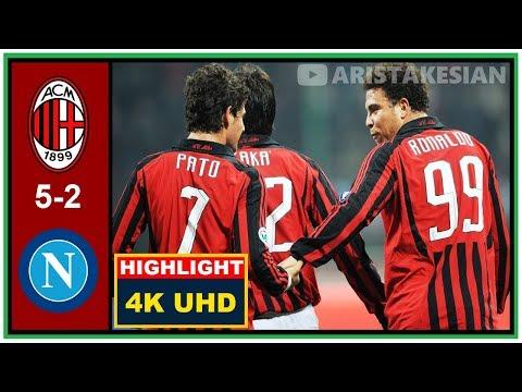 Debut Pato AC Milan vs Napoli: 5-2 Série A 2007-08 – Sky Sport – Fábio Caressa – 4K UHD