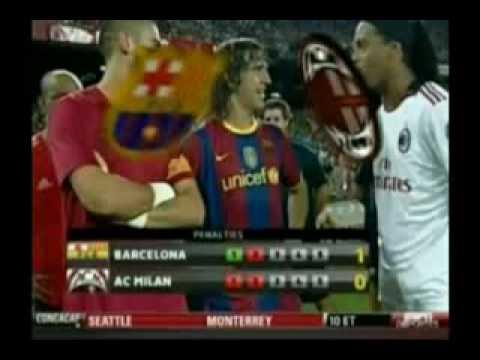 FC Barcelona 1-1 AC Milan (3-1 Pen) – Full Match Highlights & All The Goals (25-08-10)