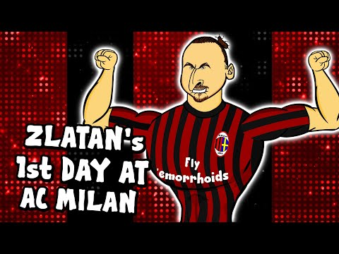 🔴Zlatan's 1st Day at AC Milan!⚫