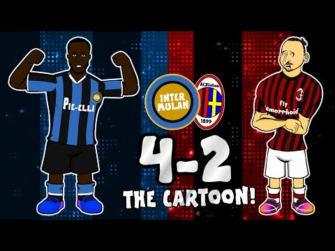 🔵⚫4-2 Inter vs AC Milan!🔴⚫ The Cartoon Comeback (Milan Derby Goals Highlights Milano)