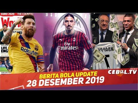Ibrahimovic Resmi ke AC Milan ? Madrid siapkan 6 T untuk Mbappe?Messi Pemain Terbaik World Soccer