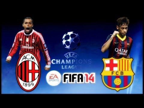 A.C Milan vs. F.C Barcelona│UEFA Champions League│FIFA 14