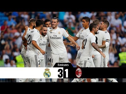 Real Madrid Vs Milan 3-1 Trofeo Santiago Bernabeu | RESUMEN COMPLETO HD 11/08/2018