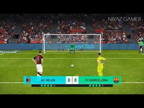 AC MILAN vs FC BARCELONA | Penalty Shootout | PES 2018 Gameplay PC