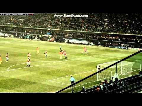 San Siro  AC MILAN vs Barcelona 2-0 Me and the Crowd(20/2/13)