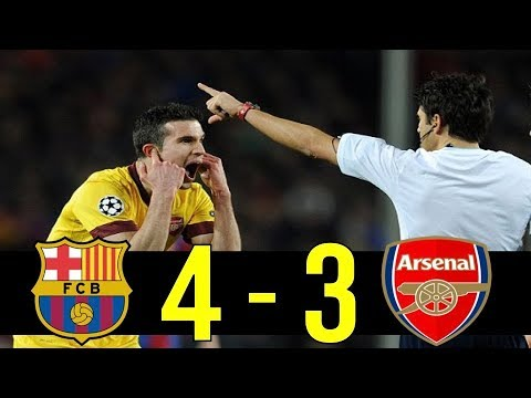 2010-11 Champions League Round Of 16 Barcelona vs Arsenal Highlight
