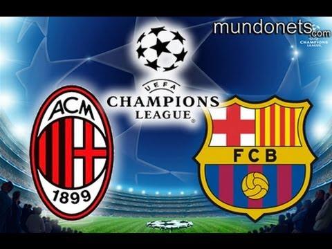 AC Milan vs Barcelona  Champions League Highlights 2-0 en Pes 2013 20-02-13