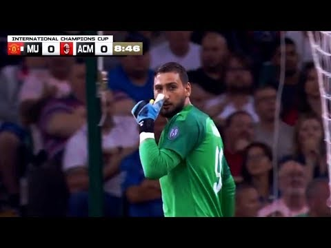 Gianluigi Donnarumma vs Manchester United FC ● Neutral ● ICC Pre-Season ● (03/08/2019) ● 720p HD