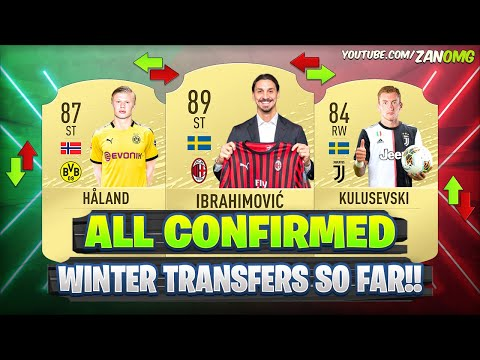 ALL NEW CONFIRMED TRANSFERS 2020!! 😱🔥 #1 | FT. IBRAHIMOVIC, HÅLAND, KULUSEVSKI…etc