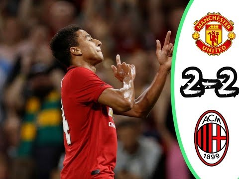 Manchester United vs AC Milan Highlights 2 2 Full Time English Commentary in HD