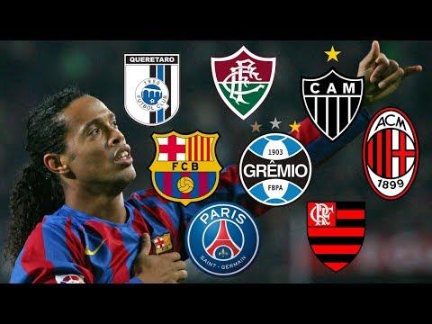 Clubs Ronaldinho Played for…[Grêmio,PSG,Barcelona,A.C.Milan,Flamengo,Atlético Mineiro,Querétaro..]