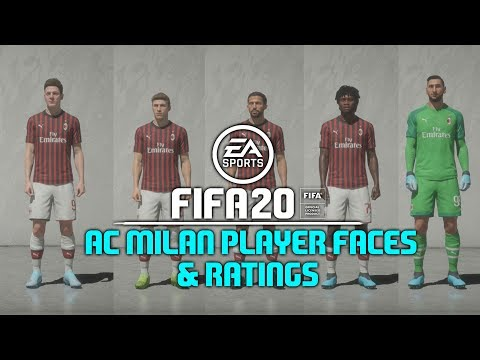 FIFA 20 – All AC Milan Player Faces & Ratings