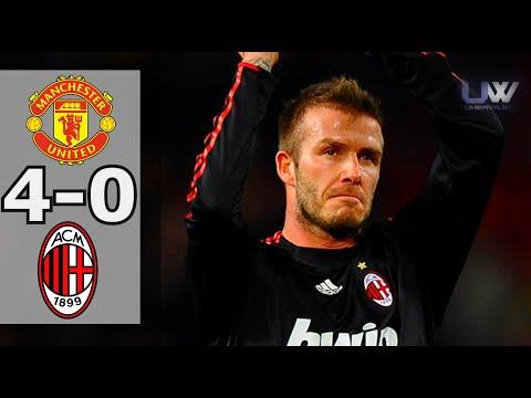 DAVID BECKHAM'S RETURN ► Manchester United vs AC Milan 4-0 | 2010