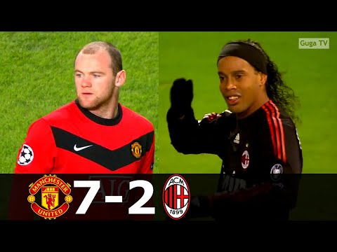 Manchester United vs AC Milan 7-2 (agg) – 2009/2010 1/8 Final HD