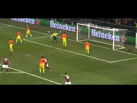 Muntari Amazing Goal vs Barcelona   [Milan 2 : 0 Barcelona]