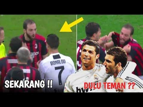 Perkelahian!?? Apa Yang Terjadi Antara Higuain & Cristiano Ronaldo ? ⚫ AC Milan vs Juventus