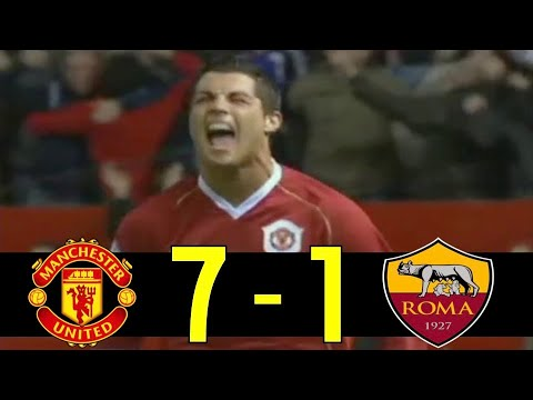 2006-07 Champions League Manchester United vs AS Roma 2nd Match Highlight