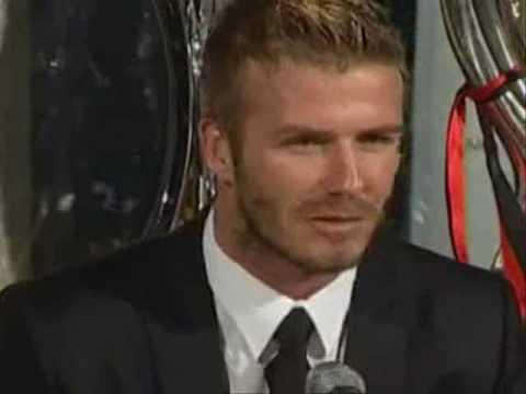 David Beckham interview back to Old Trafford (MU vs AC Milan)