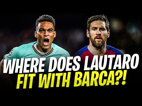 WHERE DOES LAUTARO MARTINEZ FIT? Barcelona Lineup 2020/21! Ft. Lautaro Martinez