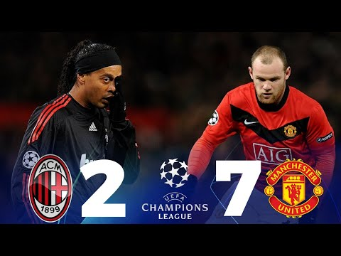 MAN UNITED VS AC MILAN (7-2)😱 FULL HIGHLIGHT • DUET BECKHAM RONALDINHO HANCUR DITANGAN ROONEY
