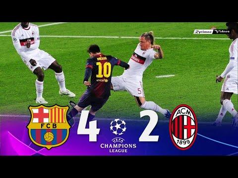 Barcelona 4 x 2 Milan ● UCL 12/13 Extended Goals & Highlights HD
