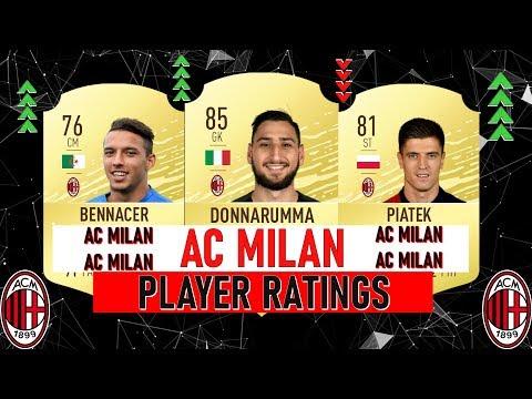 FIFA 20 AC MILAN PLAYER RATINGS 🔥 Ft. Donnarumma, Piatek, Benaccer…