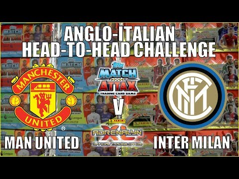 MAN UNITED v INTER MILAN | Topps Match Attax vs Panini Adrenalyn XL | HEAD-TO-HEAD CHALLENGE!