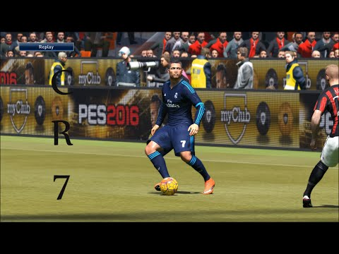 AC Milan VS Real Madrid-Pes 2016 Game play/ Friendly match/ PC Games