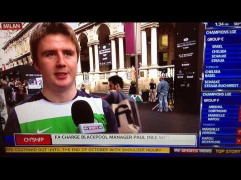 Michael McFarlane live on Sky Sports News again – Milan Vs Celtic – Champions League