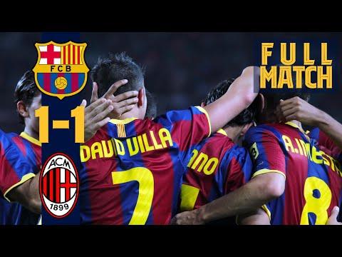 FULL MATCH: Barça – AC Milan (2010) Historic season begins against Italian giants!