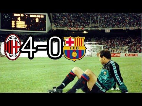 AC Milan vs Barcelona 4-0 All Goals & highlights ( 1994 UEFA Champions League Final )