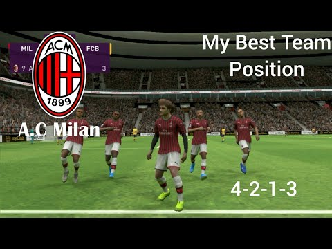 eFootball Pes 2020 | Ac Milan VS Barcelona | My Best Team Position.!!