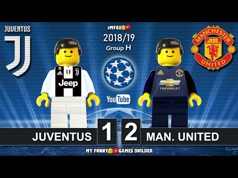 Juventus vs Manchester United 1-2 • Champions League 2019 (07/11) All Goals Highlights Lego Football