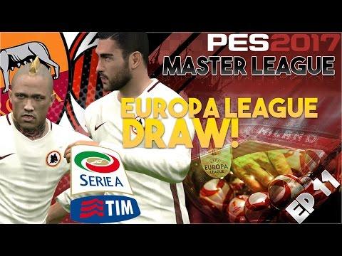 [TTB] PES 2017 – AC Milan Master League Ep 11 – AC Milan vs Roma – Europa League Draw!