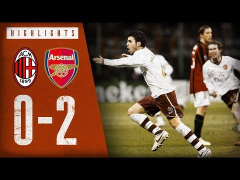 Fabregas from 30 yards! | AC Milan 0-2 Arsenal | March 4, 2008 | Arsenal Classics