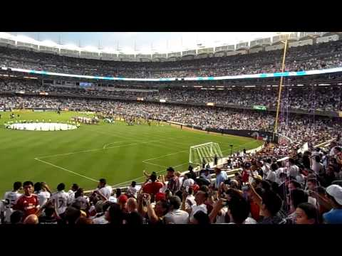 Real Madrid vs A.C Milan  Yankee Stadium Player Entrances