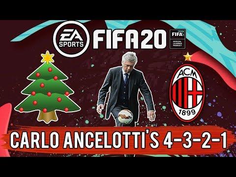 Recreate Carlo Ancelotti's 4-3-2-1 'Christmas Tree' (2007 AC Milan) | FIFA 20 Custom Tactics