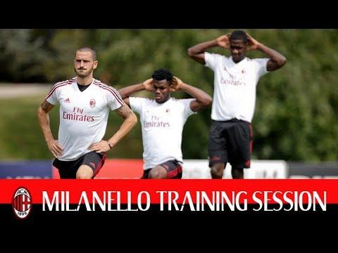 milanello training session 2017