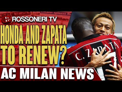 Honda And Zapata To Renew? | AC Milan News | Rossoneri TV