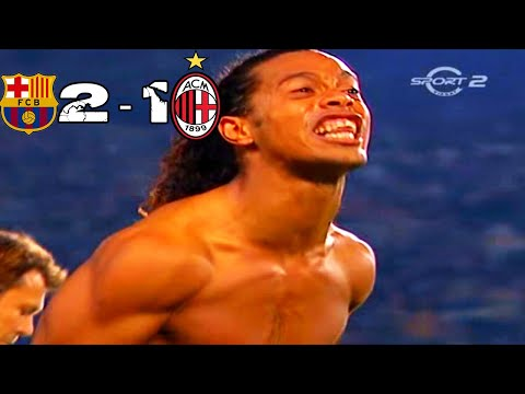 Barcelona vs AC Milan 2-1 #UCL (2nd Leg) Group Stage 2004 -2005 (All Goals & Highlights)